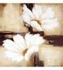 Wall Decor White Canvas 24 x 24 Inch Flower Framed Digital Art Print