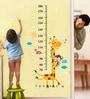 WallTola PVC Vinyl Kids Giraffe Height Chart Removable Wall Sticker