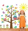 PVC Vinyl My Lovely Colorful Tree & Sunshine Wall Sticker & Decal by WallTola