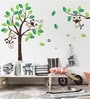 PVC Vinyl Nursery Super Large Monkey Tree Wall Sticker by WallTola
