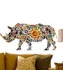 WallTola PVC Vinyl Rhinoceros Can Be Decorative Wall Sticker & Decal