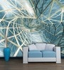 Blue Non Woven Paper Structure of Infinity Wallpaper by Wallskin
