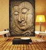 Brown Non Woven Paper Buddha Enlightened One Wallpaper by Wallskin