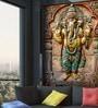 Wallskin Green Non Woven Paper Great Ganesha Wallpaper