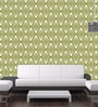 Green Non Woven Paper The Rhombus Lines Wallpaper by Wallskin