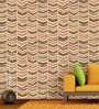Red Non Woven Paper The Tribal Lines Wallpaper by Wallskin