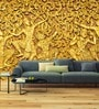 Yellow Non Woven Paper Golden Tribe Wallpaper by Wallskin