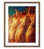 Photographic Paper & Glass Dance of Rose Framed Art Print by WallsnArt