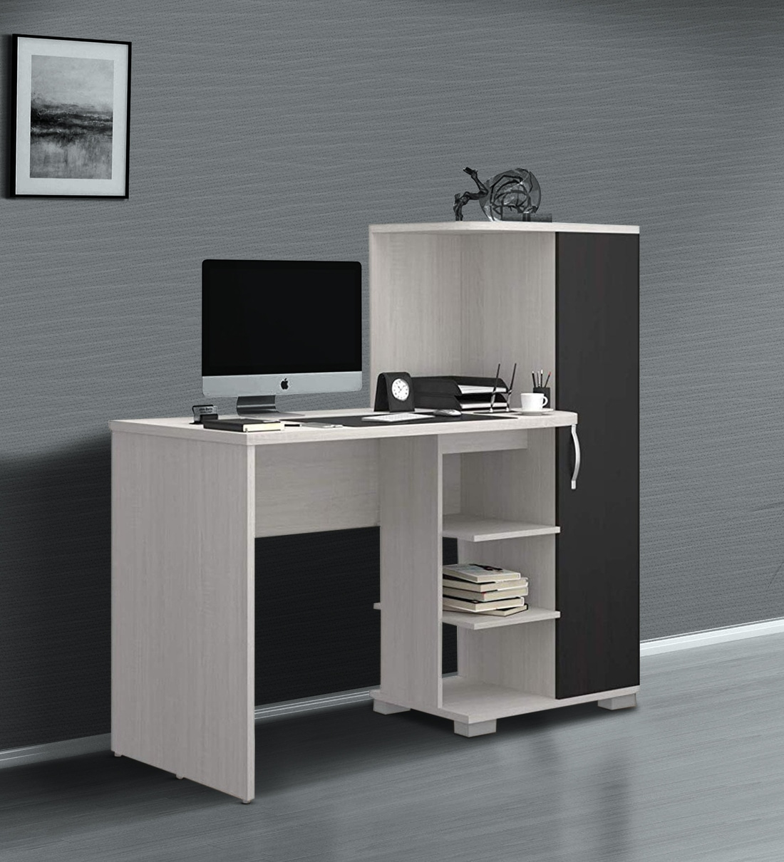 Buy Wesley Study Table In White Wenge Colour By Forzza Online Modern Writing Tables Tables Furniture Pepperfry Product