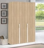 Weller Three Door Wardrobe in Prime Teak Finish