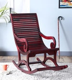 Wellesley Rocking Chair in Passion Mahogany Finish