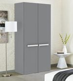 Werner Two Door Wardrobe in Grey Finish