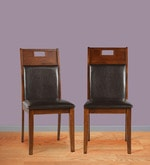 Wesco Dining Chair (Set of 2) in Oak with Espresso Finish
