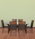 Wesco Six Seater Dining Set in Oak & Espresso Colour