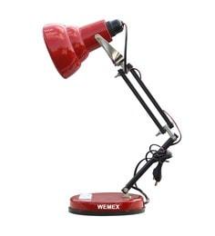 Wemex Red Aluminium Albatraoz Study Lamp at pepperfry