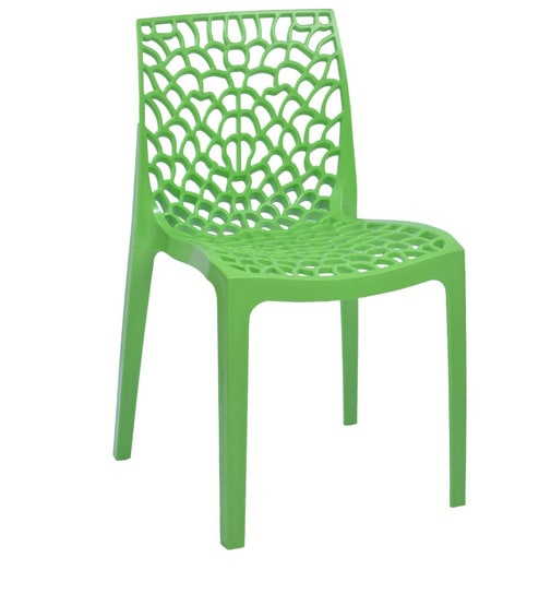 Web Chair Set Of Six In Parrot Green Colour By Supreme By Supreme