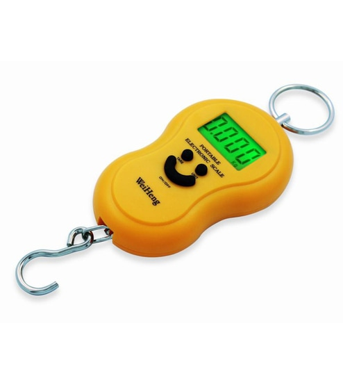 42627576ec22 WeiHeng A04 Smily Big Hook 50 Kg Luggage Hanging Scale