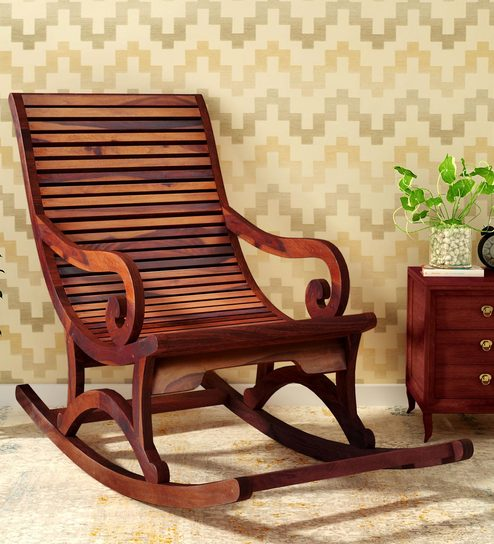 Incredible Wellesley Solid Wood Rocking Chair In Honey Oak Finish By Amberville Frankydiablos Diy Chair Ideas Frankydiabloscom
