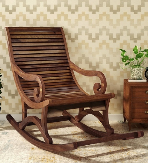 Rocking Chair In Provincial Teak Finish