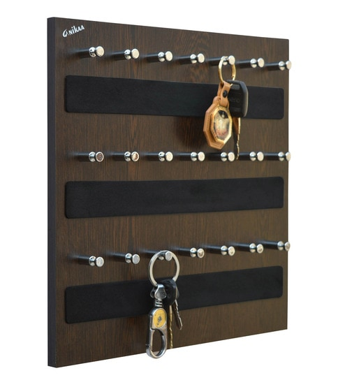 452a49fb86 Buy Wenge Woodsky 21 Series Key Chain Holder by Anikaa Online -  Contemporary Key Holders - Contemporary Key Holders - Wall Art - Pepperfry  Product