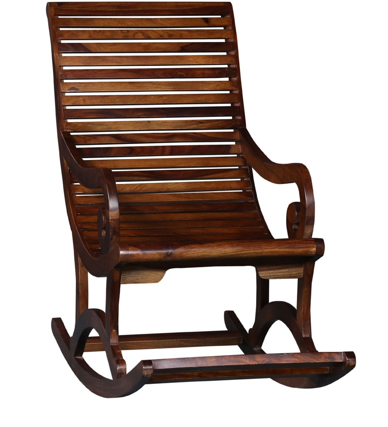 Rocking Chair in Provincial Teak Finish by Amberville Online - Rocking ...