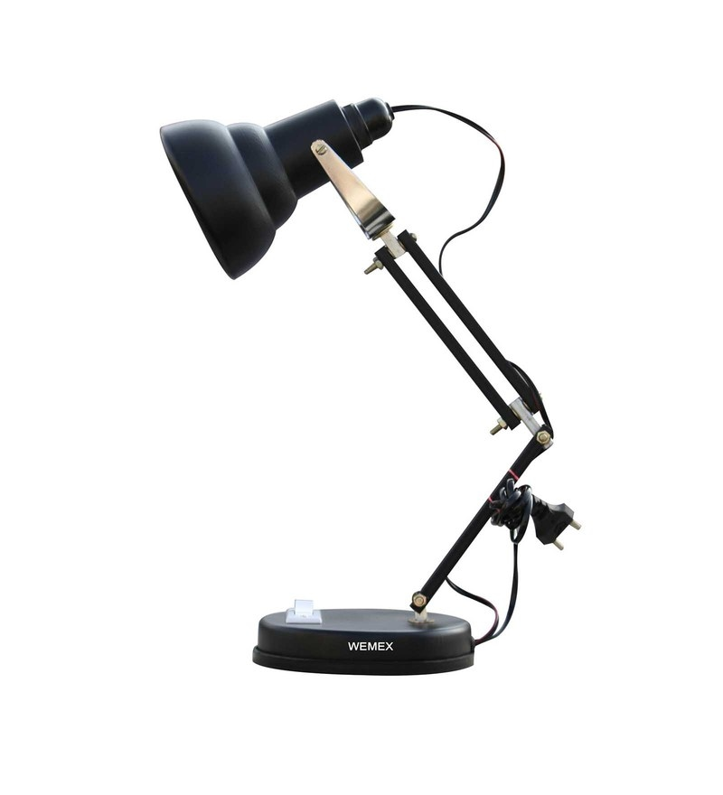 Black Aluminium Albatraoz Study Lamp by Wemex