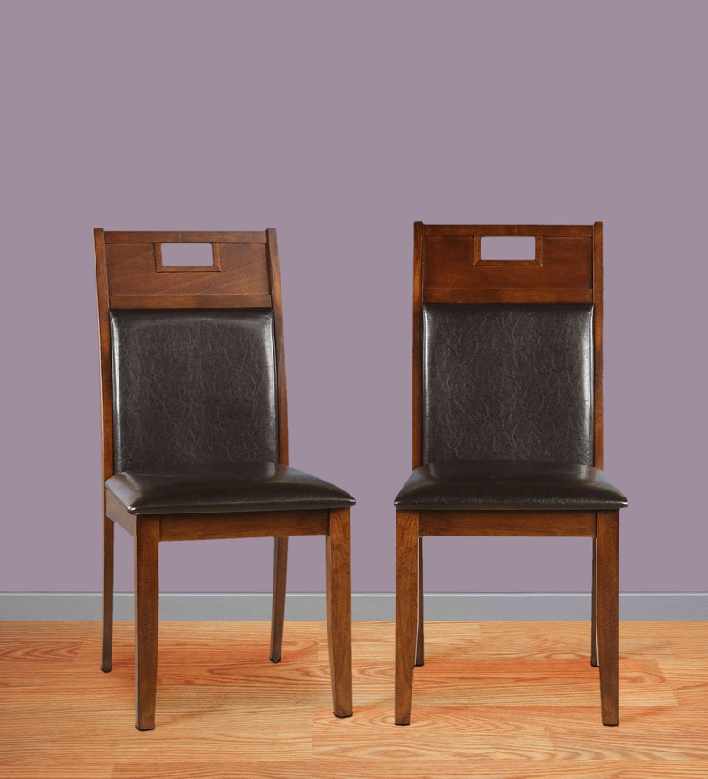 Wesco Dining Chair (Set of 2) in Oak with Espresso Finish by HomeTown