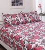 Welhome Multicolour Nature & Florals Cotton Queen Size Bed Sheets - Set of 3
