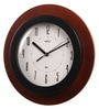 Brown Glass & MDF 12 Inch Round Wall Clock by Wertex