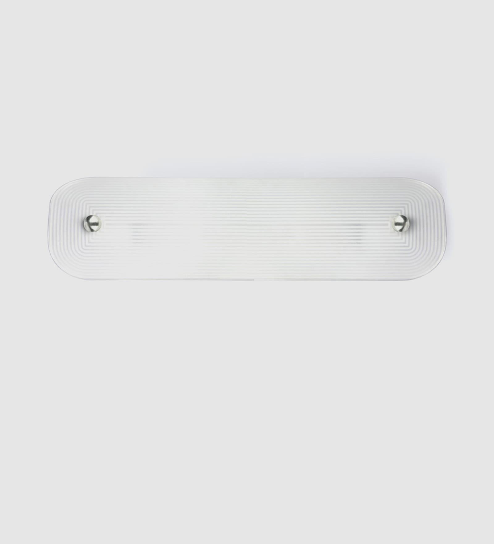 White Steel and Glass Mirror Light by Fos Lighting