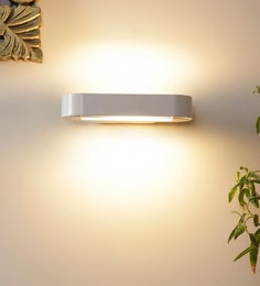 White Aluminium And Glass Wall Mounted Light - 1620037