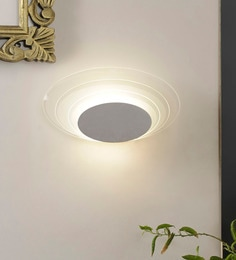 White Aluminium And Glass Wall Mounted Light - 1620043