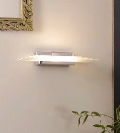 White Aluminium And Glass Wall Mounted Light - 1620042