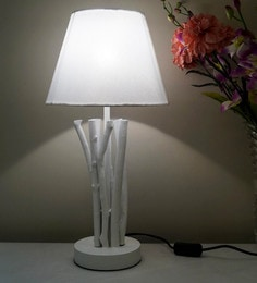 White Jute Table Lamp