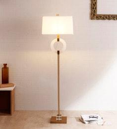 White Linen Floor Lamp