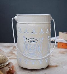 White Metal Tea Light Holder - 1716622