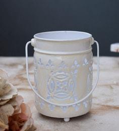 White Metal Tea Light Holder - 1716621