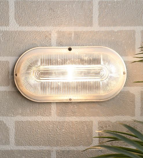 White Metal Outdoor Wall Light By Superscape Outdoor Lighting