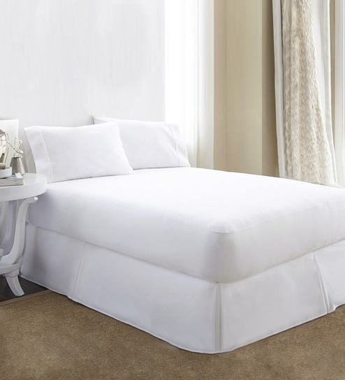 Alexa Queen Bed 72x72 Inch Cotton Mattress Protector By R Home