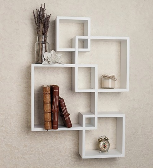 size 40 9b653 ded45 Intersecting Boxes Wall Shelves in White Finish by DriftingWood