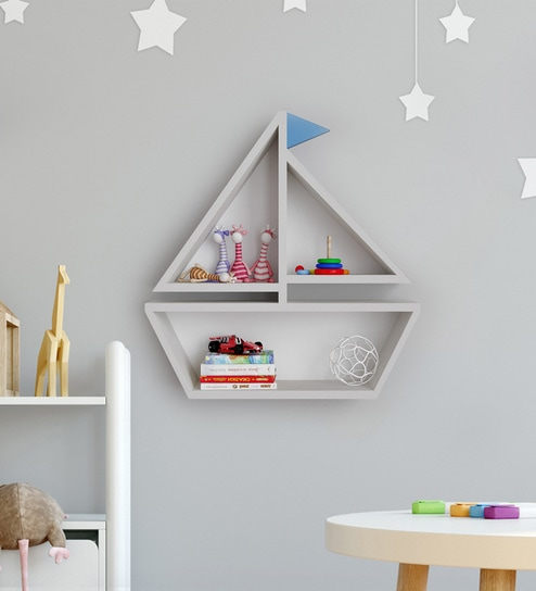 Astounding White Engineered Wood High Grade Laminate And Non Toxic Paint Marine Kids Wall Shelf By Boingg A Happy Start Ibusinesslaw Wood Chair Design Ideas Ibusinesslaworg