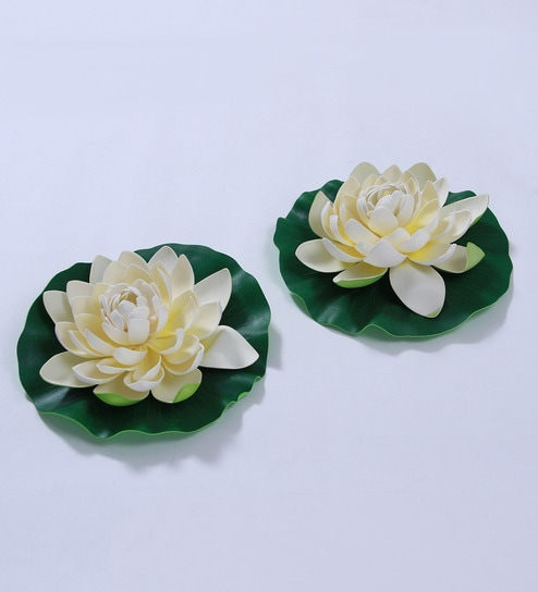 Buy white foam artificial lotus flower by fourwalls set of 2 white foam artificial lotus flower by fourwalls set of 2 mightylinksfo