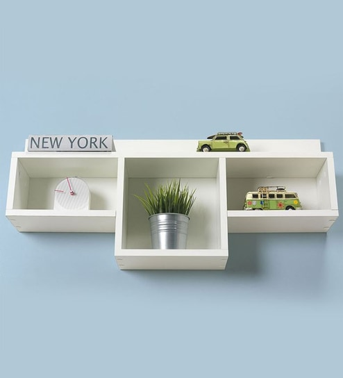 on sale 70584 fe387 White MDF Wall Shelf by Qesyas