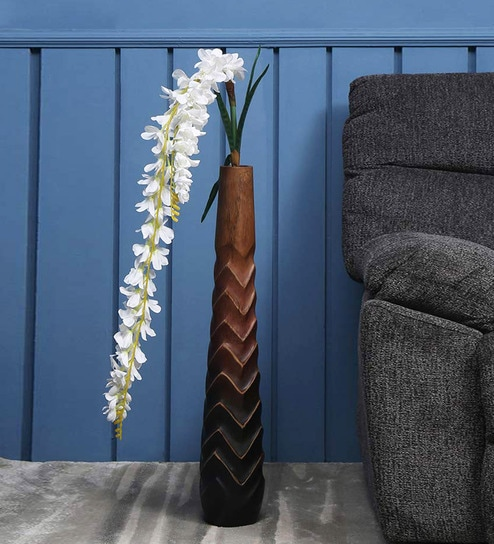 e2c936d4488 Buy White Plastic Dancing Orchid Tall Artificial Flower Stick By @Home By  Nilkamal Online - Artificial Flowers - Artificial Flowers - Decor -  Pepperfry ...