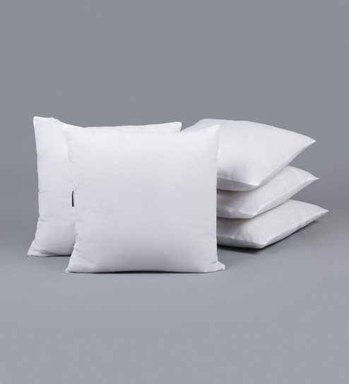 16 By 16 Pillow.Polyester 16 X 16 Inch Cushion Insert Set Of 5 By Swhf