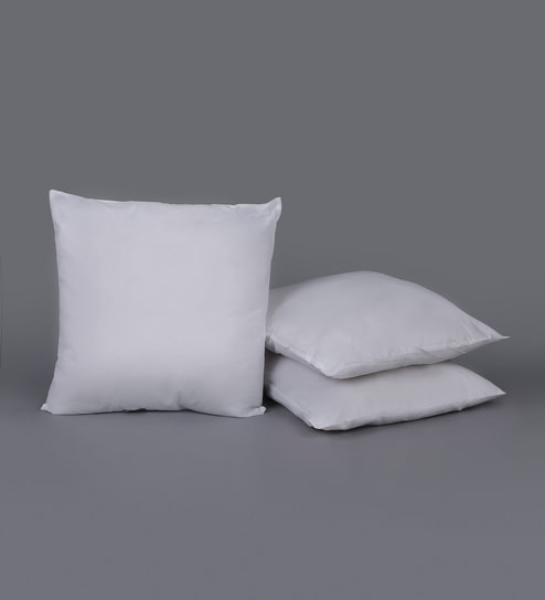 Buy Polyester 20 X 20 Inch Cushion Insert Set Of 3 By Swhf Online