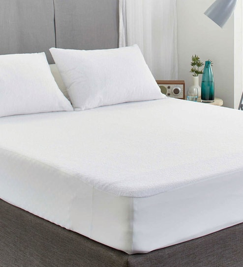 Buy White Waterproof 78 X 36 Inch Single Size Mattress Protector By