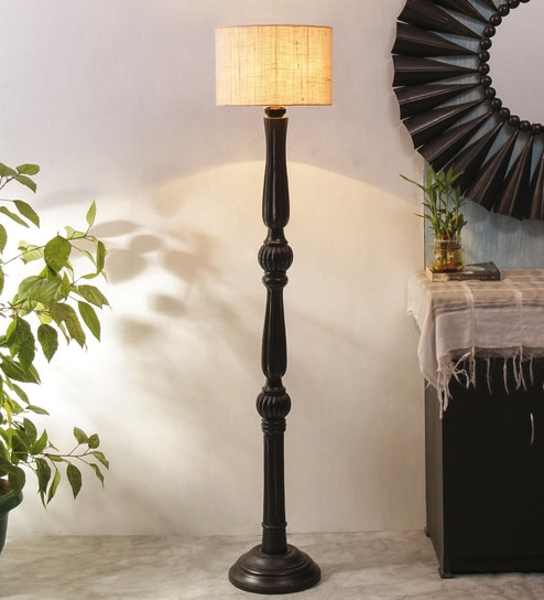 White Wood Floor Lamp By New Era