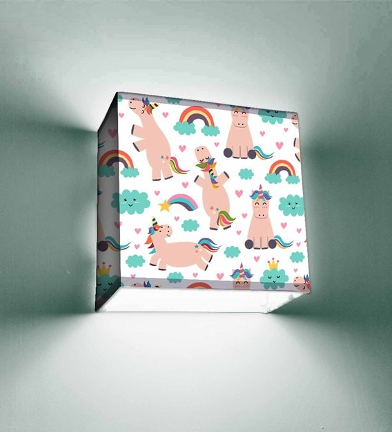 Buy White Fabric Wall Light Nutcase Online Kids Wall Lights Kids Decor Kids Furniture Pepperfry Product