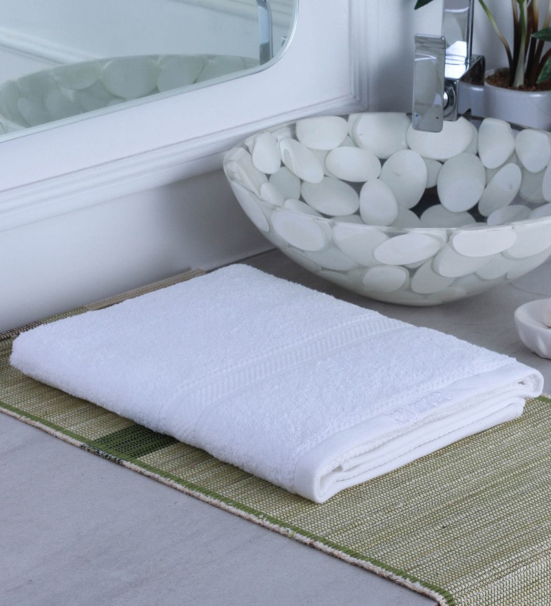 White 100% Cotton Bath Towel by Raymond Home